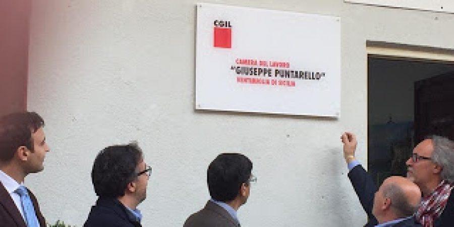 Giuseppe Puntarello, intitolazione della sede della Camera del Lavoro