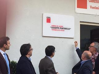 La Sede Cgil Di Ventimiglia Di Sicilia Intitolata A Puntarello
